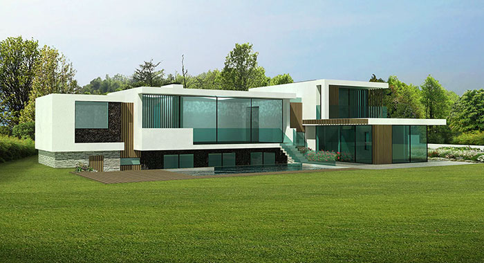 Moonfleet - Contemporary House With Swimming Pool