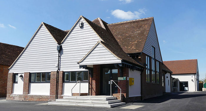 Harwell Village Hall In Construction - Renovation And New Build