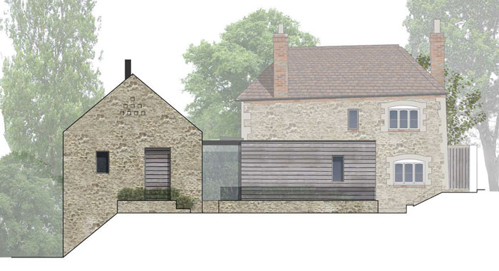 Mill Lane - Modern Extensions To A Listed Building