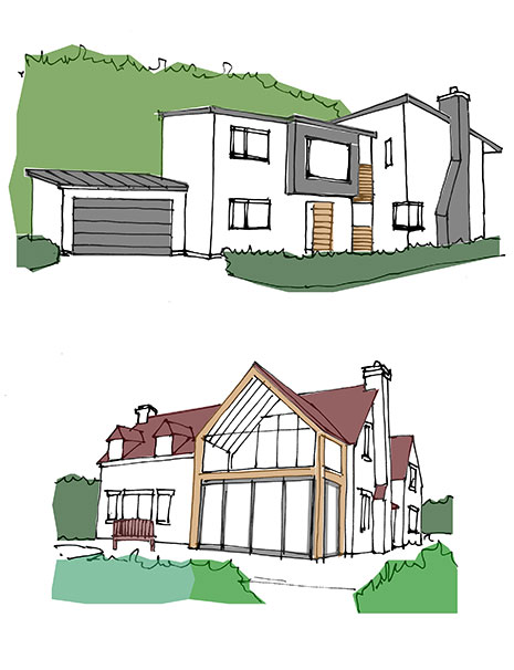 new houses sketch
